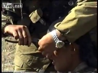 Пуля в голове российского солдата.Чечня